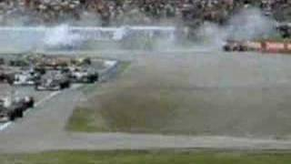 Fisichella Collides with Michael Schumacher