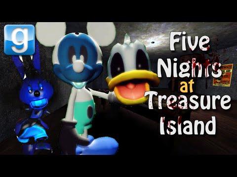 Gmod FIVE NIGHTS AT TREASURE ISLAND w/ Events (Garry's Mod Horror Map)