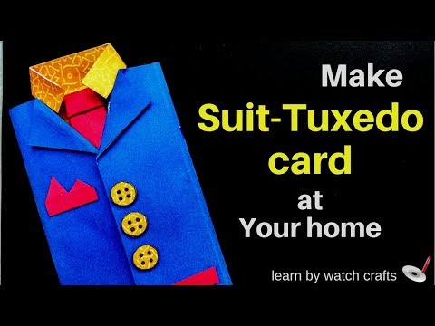 Make Suit-Tuxedo card at Your Home (DIY) | Learn By Watch Crafts