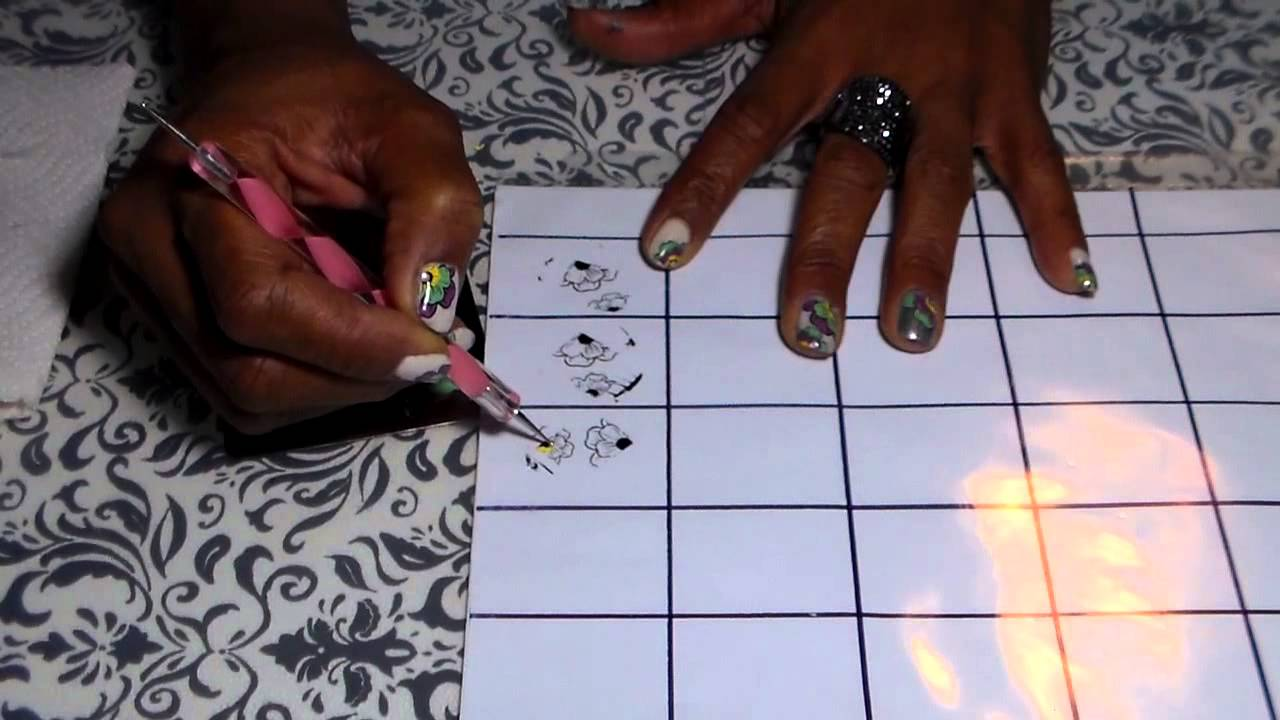 How to make Your own Nail Decals - YouTube