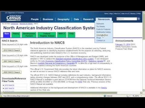 NAICS/SIC Codes - Agricultural Economics 4971/7971 ...