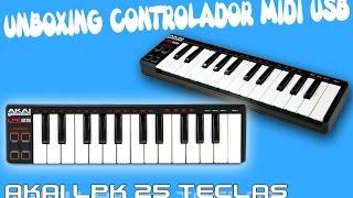 Unboxing Teclado MIDI USB -Akai LPK 25 (por Yorozuya Beats)