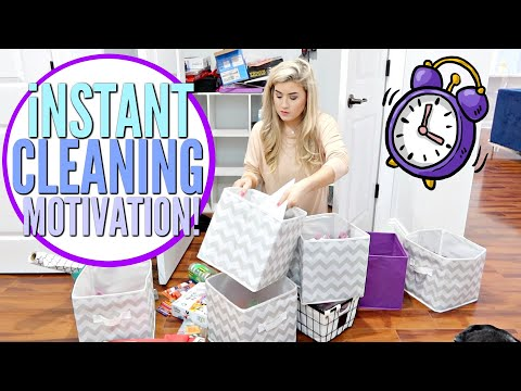 2020 💜iNSTANT CLEANING MOTIVATION | 10 MIN CLEAN WITH ME w/ CLEANING MUSIC | Love Meg