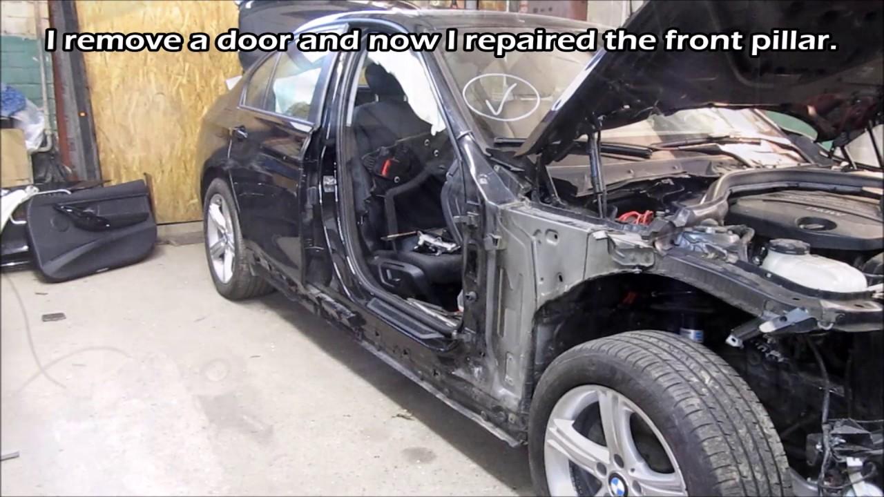 BMW3. A little body repair. Небольшой ремонт кузова.