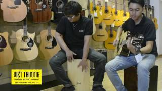 Ngẫu hứng Guitar và Cajon   Việt Thương Music 369