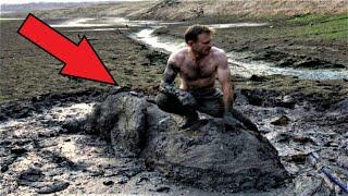 Кажется мужчина просто сидит на камне! Узнав, что скрывается под ним, вы будете удивлены!