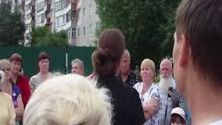 Собрание 1 июля жильцов против разрушения парка