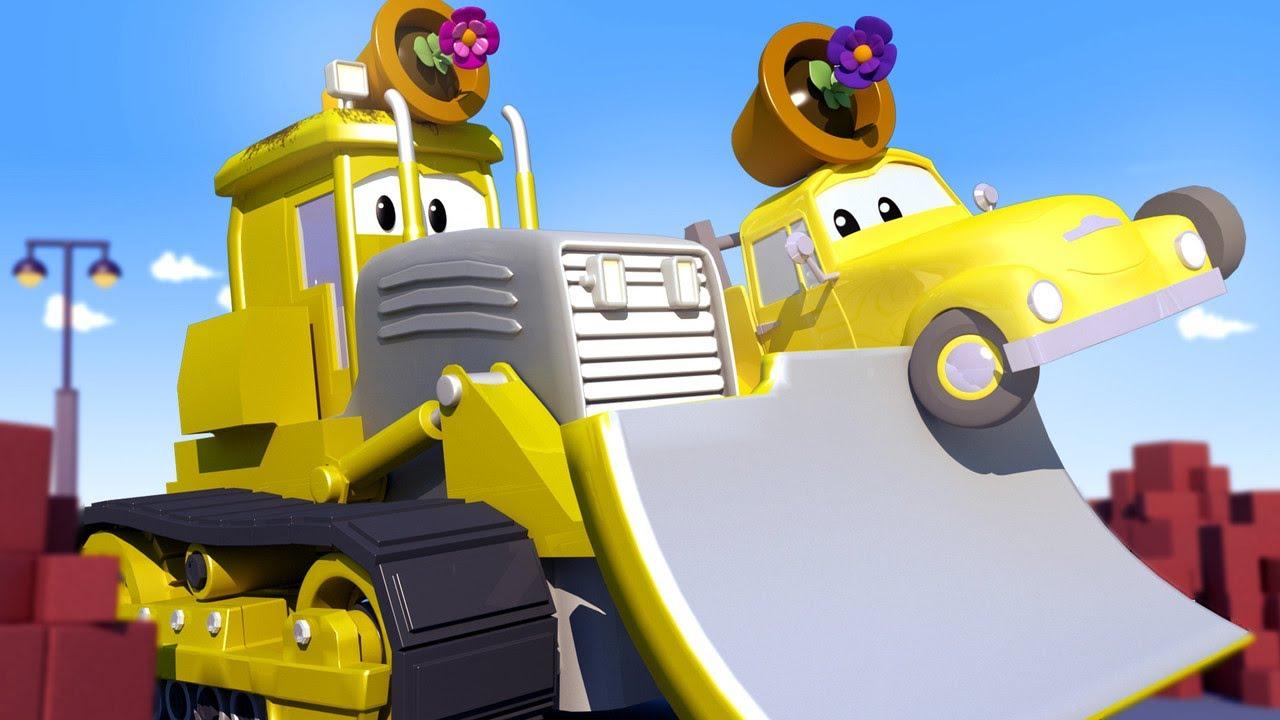 Tiệm rửa xe cho trẻ em - Billy xe ủi đất - Thành phố xe