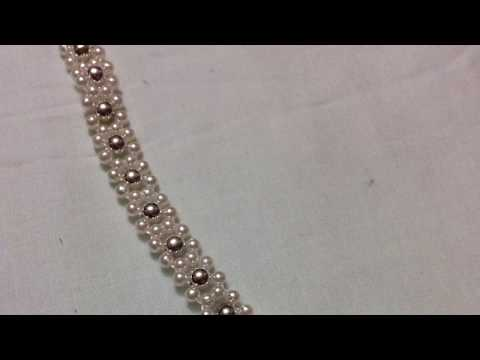 How To Make a Beautiful pearls bracelet