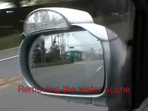 car accessory removing raindrop on side mirror youtube. Black Bedroom Furniture Sets. Home Design Ideas