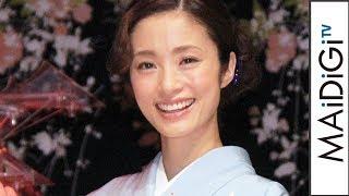 女優の上戸彩さんが5月31日、日本橋三井ホール(東京都中央区)で開かれた展示会「アートアクアリウム」の発表会に登場。3度目の広報大使に就任した上戸さんは、展示 ...