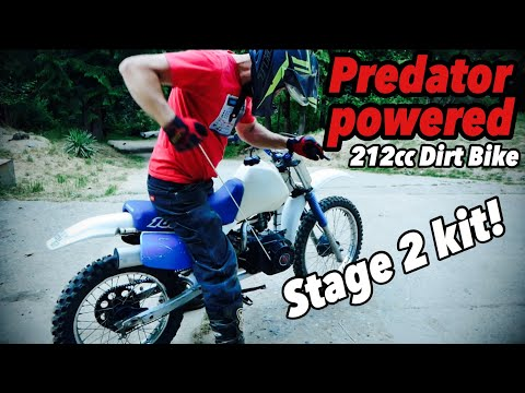 212cc Predator Powered Mini Bike Motorcycle Engine Swap Installing A Stage 2 Kit Youtube