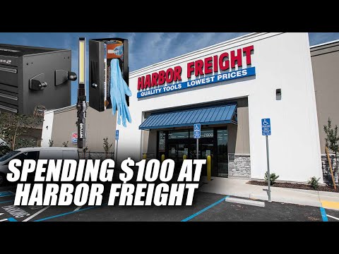 SPENDING $100 AT HARBOR FREIGHT...