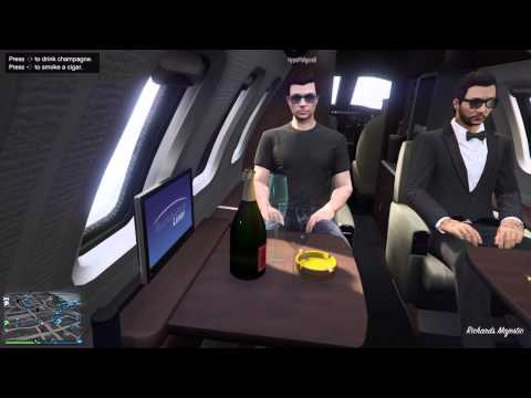GTA 5 ONLINE - NEW Gold 10 Million Dollar Jet DLC (Luxor Deluxe) THE ILL GOTTEN GAINS UPDATE PART 1