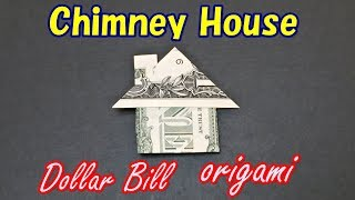 Easy Money Origami for Beginners   How to Make a House from 1 Dollar Bill   Moneygami House