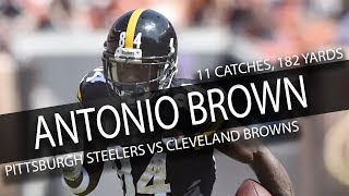 Antonio Brown Highlights vs Browns // 11 Catches for 182 Yards // 9.10.17