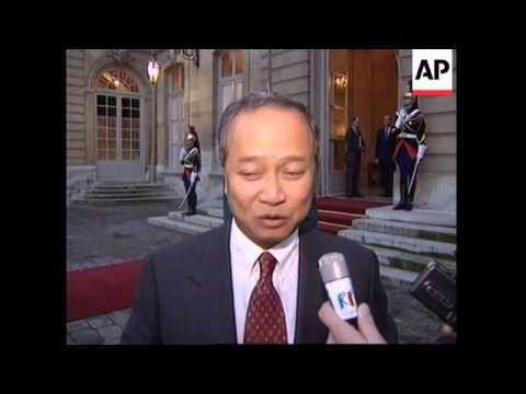 FRANCE: GOVERNMENT SIGNS FINANCIAL AGREEMENT WITH CAMBODIA