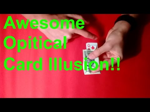 Awesome Optical Card Illusion Performance And Tutorial