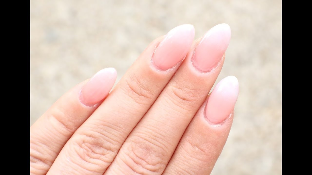 French Fade Nails With A Twist - YouTube