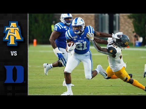 North Carolina A&T Vs. Duke Football Highlights (2019)