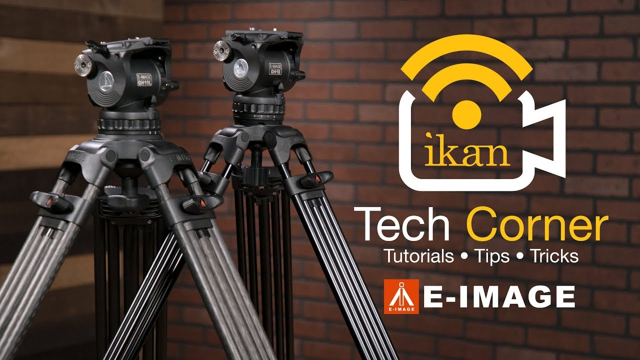 E Image Aluminum And Carbon Fiber Tripods W Gh10 Head Ikan Tech