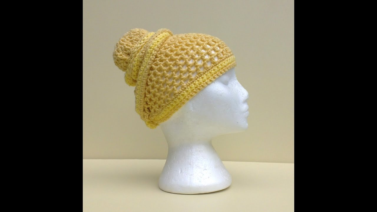 b57bb8ac Mesh Head Wrap Hat Crochet Tutorial - YouTube