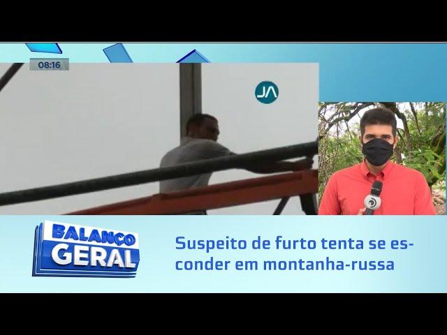Fuga atrapalhada: Suspeito de furto tenta se esconder em montanha-russa no centro de Arapiraca