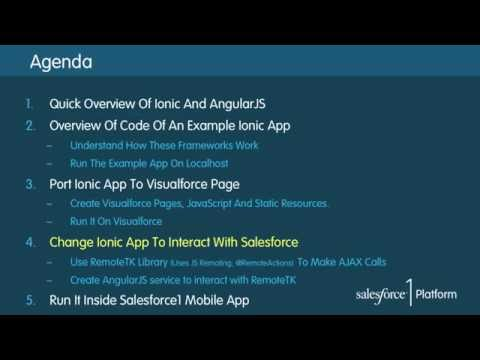 Part 2 1: Building Beautiful Mobile Apps In Visualforce Using