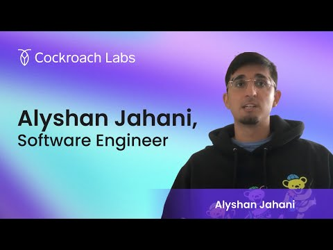 Roacher of the Week: Alyshan Jahani, Software Engineer