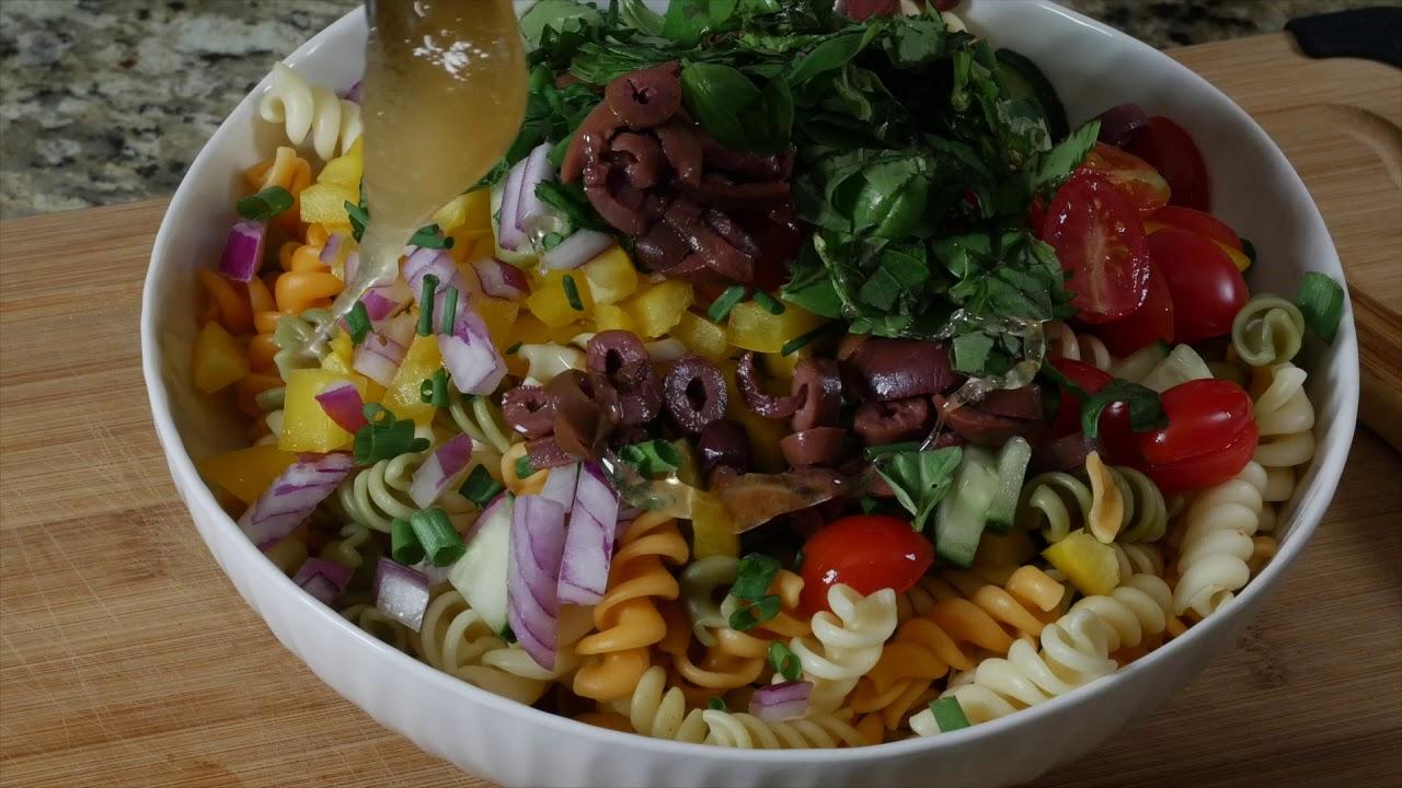 Garden Pasta Salad - YouTube