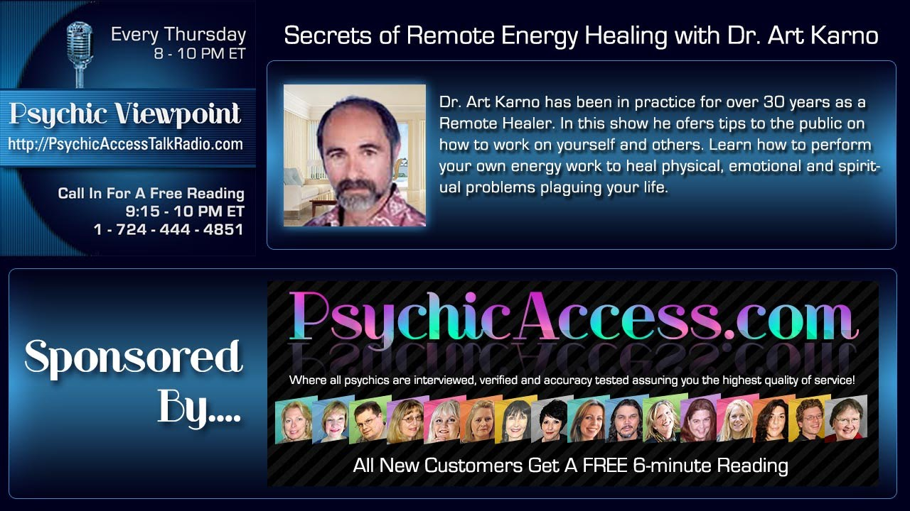 Secrets Of Remote Energy Healing With Dr Art Karno