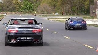 Nissan GTR R35 vs Audi R8 V10 vs S63 AMG vs Mclaren 12C