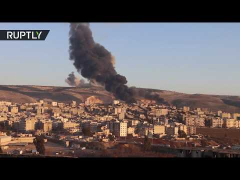 Turkish F-16 jets leave Afrin wreathed in black smoke