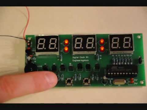6 Digit Atmel Clock With Alarm Countdown Timer