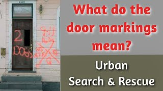 Urban Search and Rescue Door Markings
