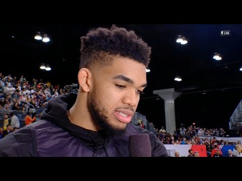 Karl-Anthony Towns Interview / Feb 17 / 2018 NBA All-Star Practice