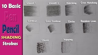 10 Basic PenPencil strokes, Beginners Introduction, Basic Pencil Shading - Art with Swapan