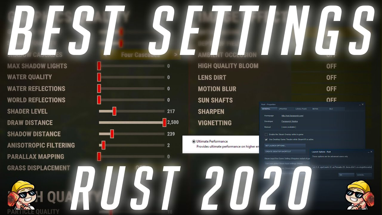 Best Rust Settings 2021 THE ULTIMATE RUST PERFORMANCE (SETTINGS) GUIDE | 2020 | RUST   YouTube