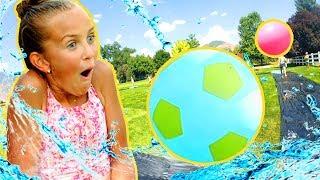 Epic Kiddie Pool Kickball | FunPop! | Slip-n-Slide Kickball