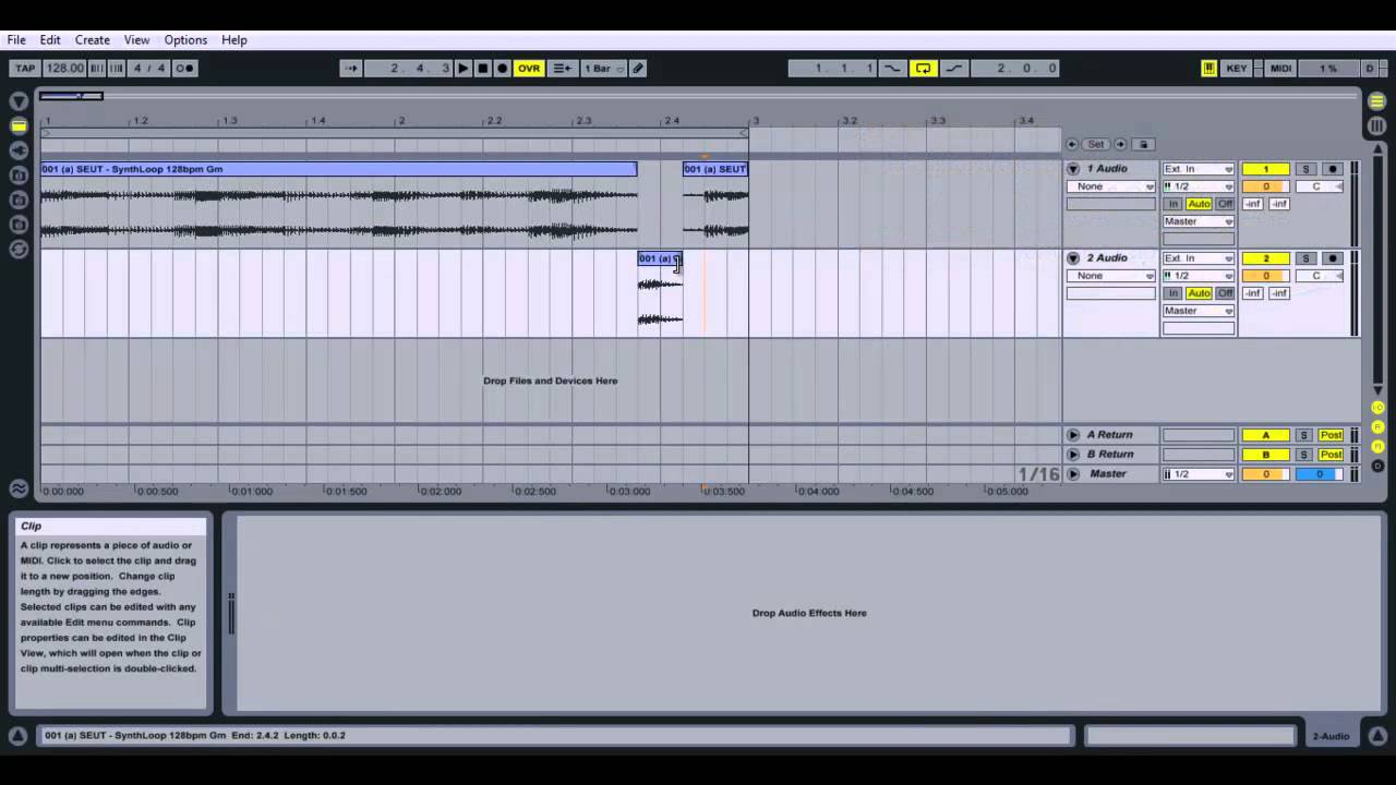 how to cut in ableton live