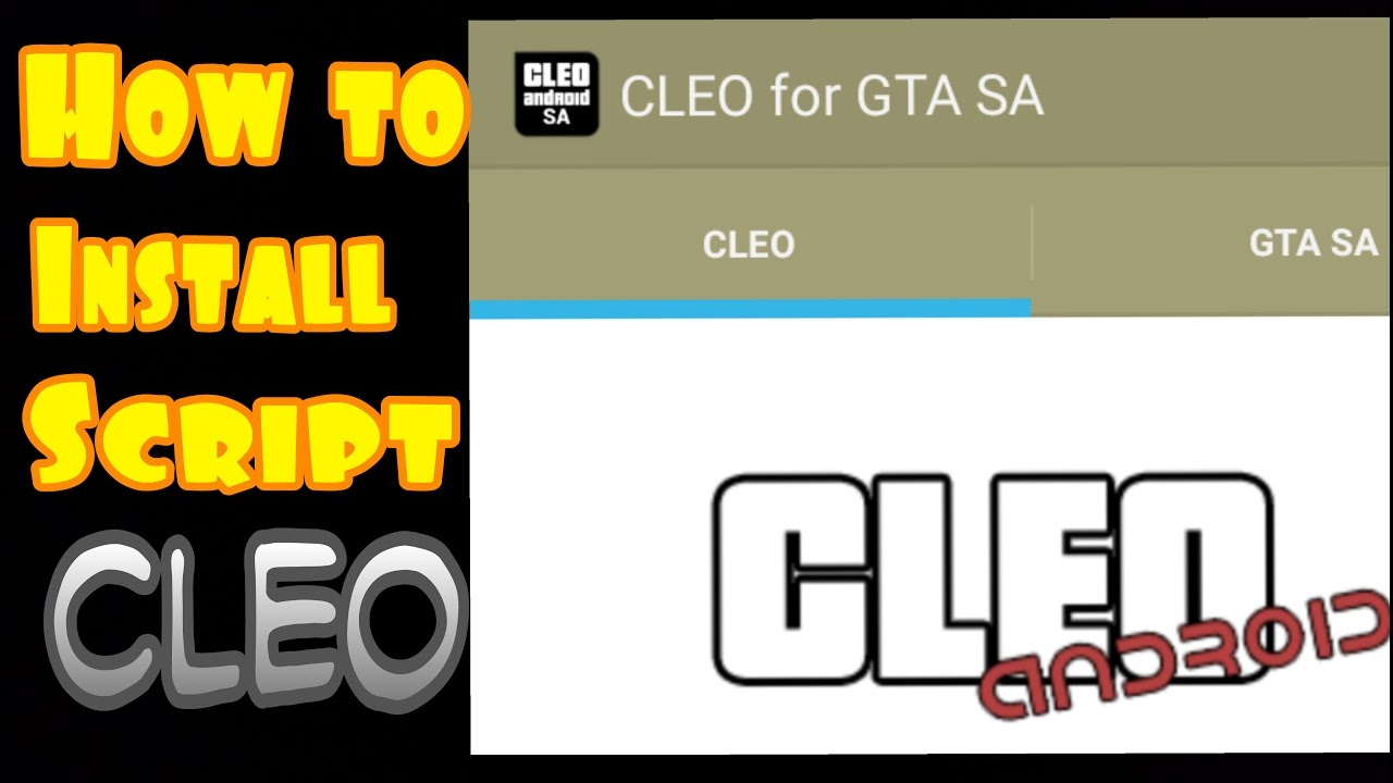 GTA sa how to install script cheat cleo apk android