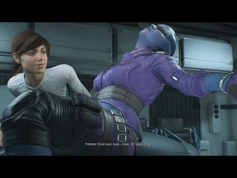 Mass Effect Andromeda PeeBee Zero Gravity Romance Scene