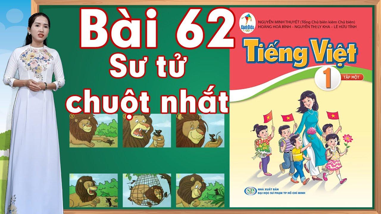 Tiếng việt lớp 1 sách cánh diều - Bài 62 |Kể chuyện Sư tử và chuột nhắt |learn vietnamese