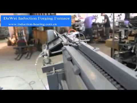 induction forging furnace with auto feeder system - YouTube