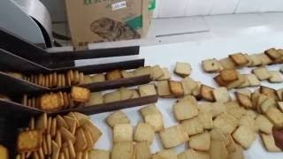 Type 400 automatic biscuit equipment/200-300kg/h biscuit production line video