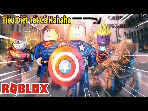 Roblox - Mình Biến Thành Người Sắt Iron Man Super Saiyan Hủy Diệt Tất Cả - THANOS Super Hero Tycoon
