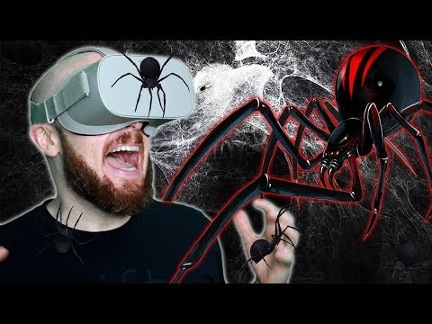 ATTACKED BY SPIDERS IN VIRTUAL REALITY!! Face Your Fears Oculus Go Gameplay