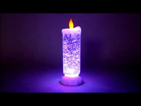 Auto Rotating Glitter Colour Changing LED Candle Cum Light