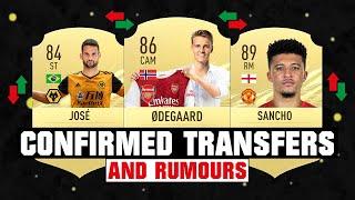 FIFA 21   NEW CONFIRMED TRANSFERS & RUMOURS! 😱🔥 ft. Odegaard, Willian Jose, Sancho... etc