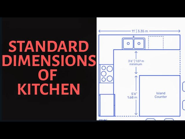 Standard Kitchen Dimensions Youtube
